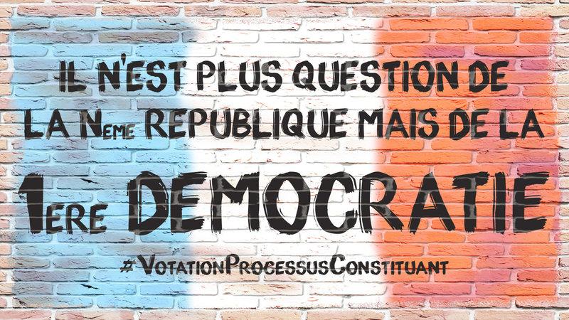 Pétition: «Nous voulons voter pour choisir le processus constituant de notre pays.»