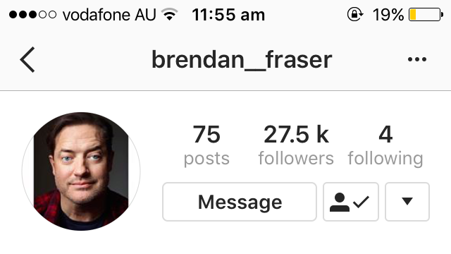 Petition · Petition to get Brendan Fraser verified on