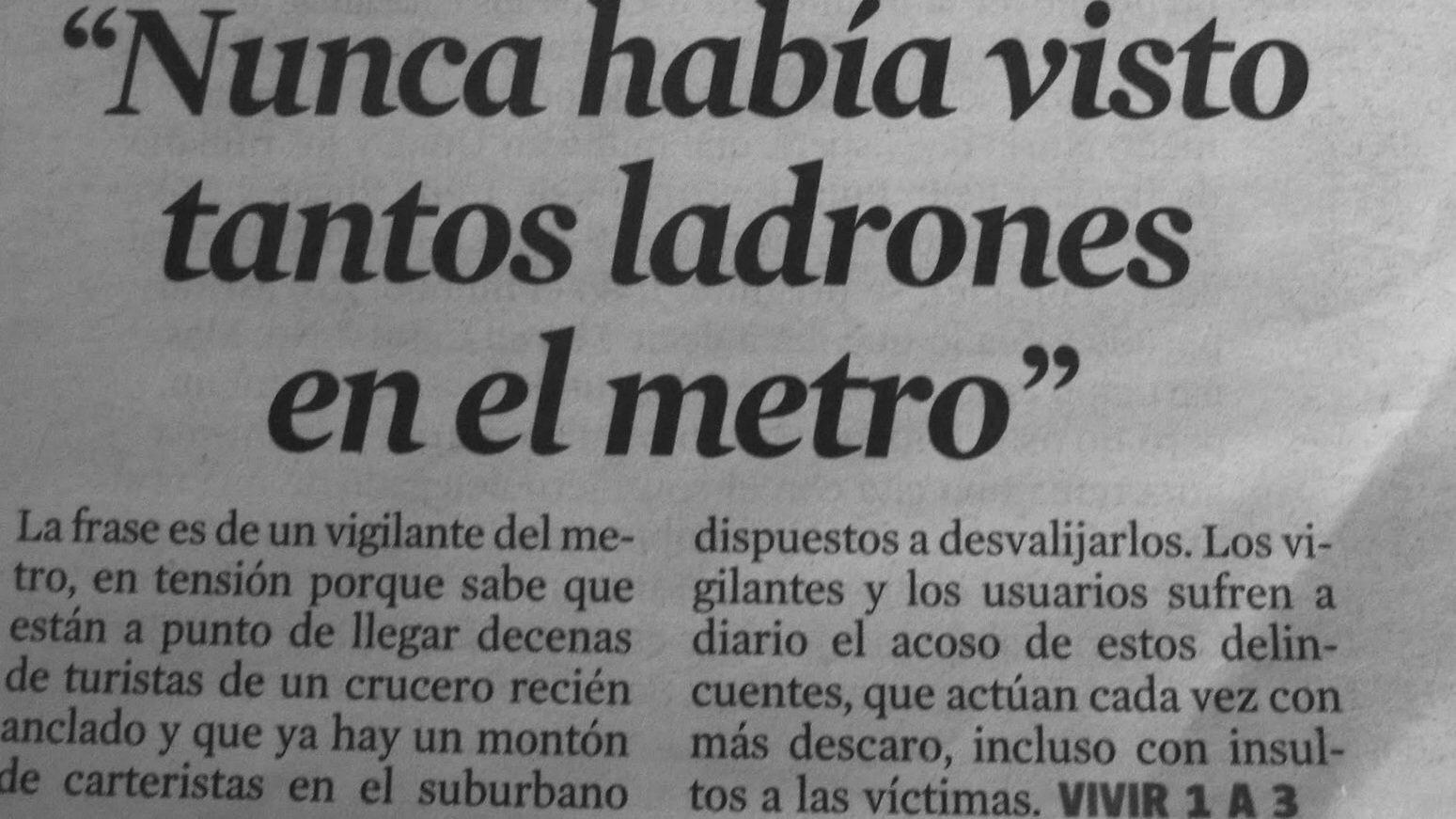 Petición Queremos Más Vigilante De Seguridad En El Metro