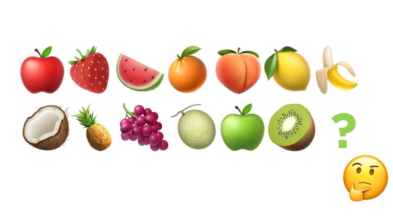 Красивые картинки эмоджи фруктов