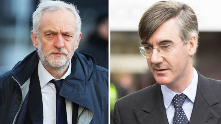 Image result for corbyn rees-mogg