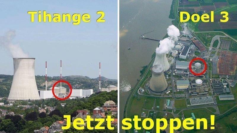 Bildergebnis für fotos von belgischen riss atomreaktoren