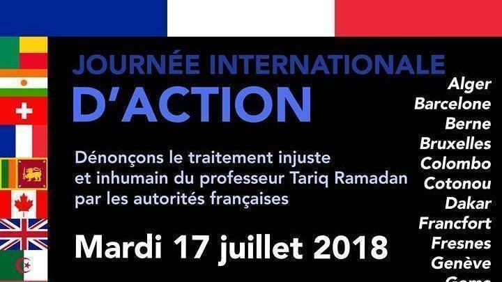 JOURNÉE INTERNATIONALE D'ACTION AUX AMBASSADES DE FRANCE POUR DÉNONCER LE TRAITEMENT INJUSTE QUE SUBIT TARIQ RAMADAN PnQJhGmSddTbpcp-800x450-noPad