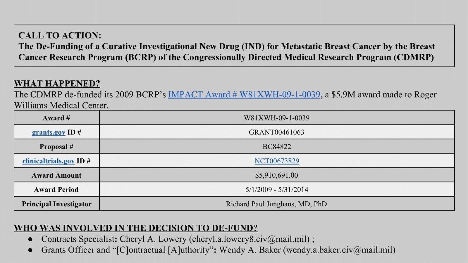 DOD – CDMRP Releases FY 2019 Peer Reviewed Medical ...