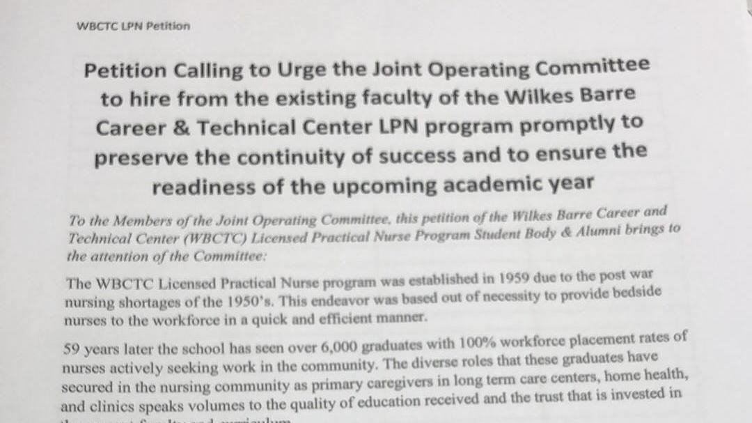 Petition · Joint Operating Committee for Wilkes Barre Career ...