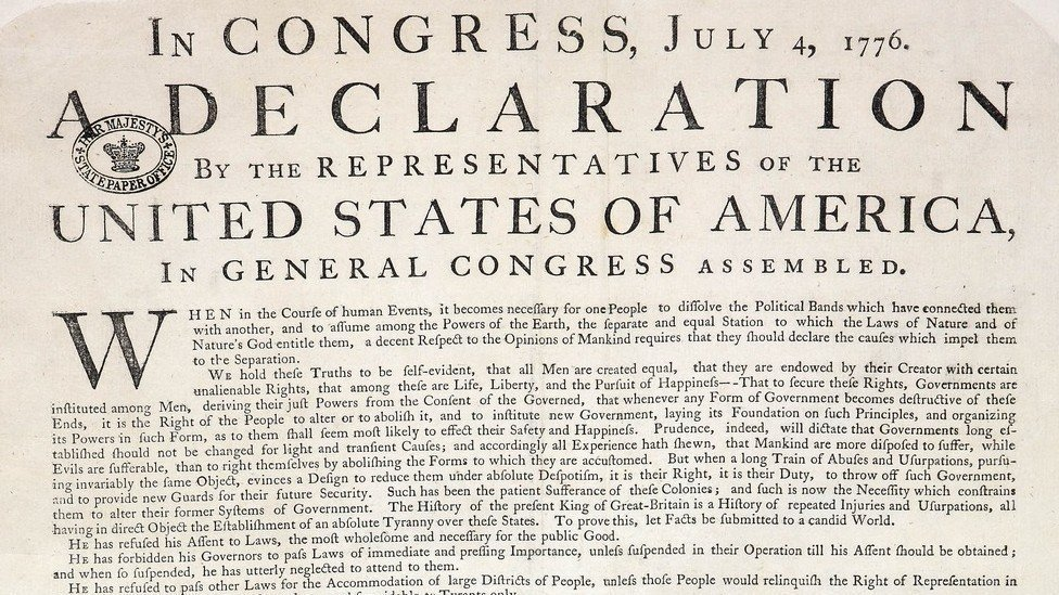 the declaration of independence in america which started the idea of equality