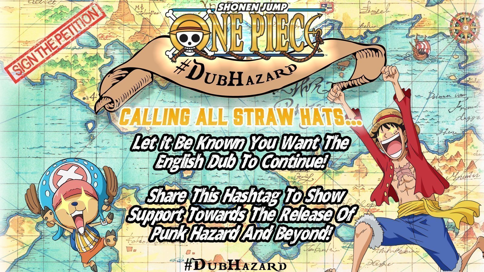 Petition · Save The One Piece English Dub! · Change org