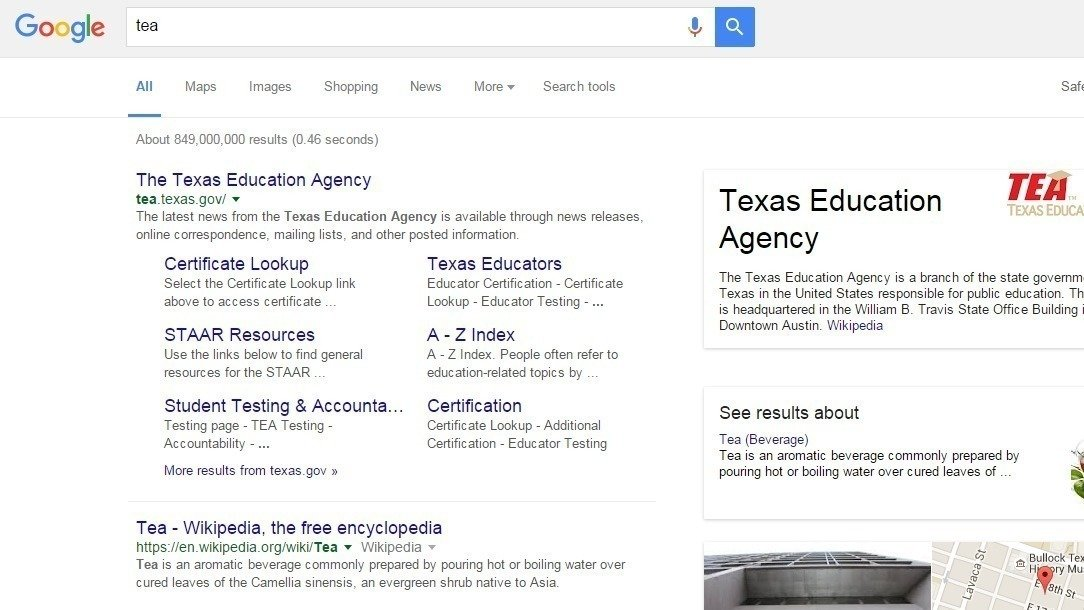 Supporter Comments Google Remove The Texas Education Agency From