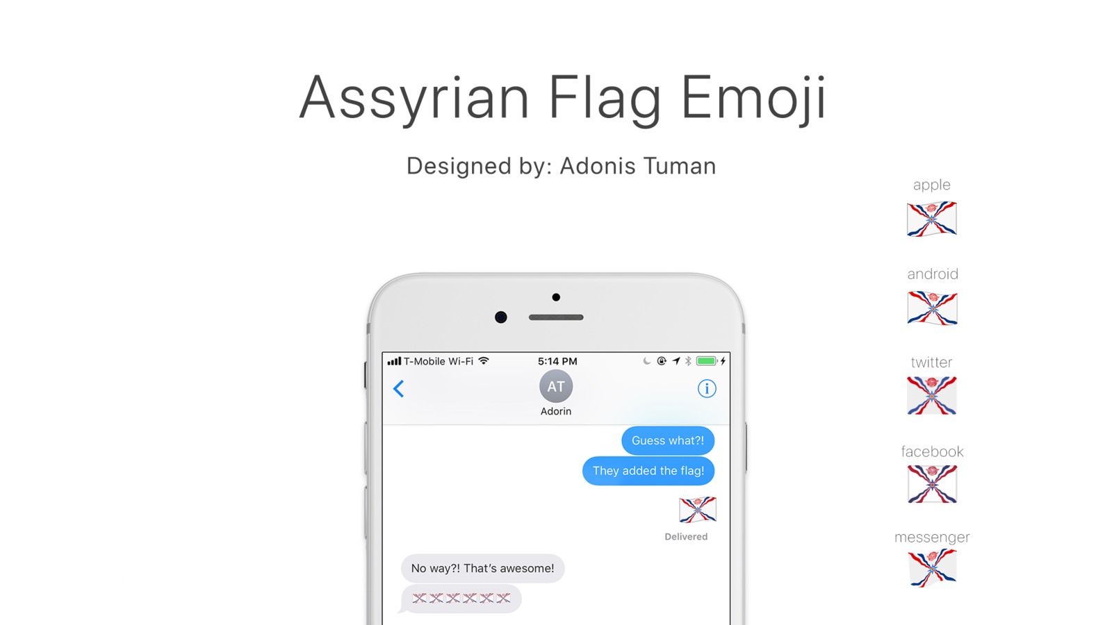 Petition · The Unicode Consortium: Make the Assyrian flag an