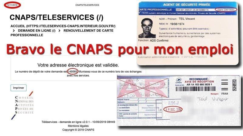 renouvellement carte professionnelle cnaps Pétition · Ministère de l'intérieur: Le Conseil National des