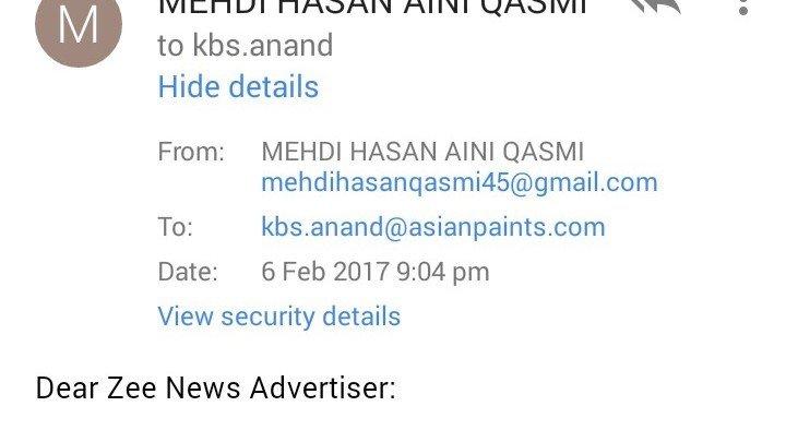 Asian paints email