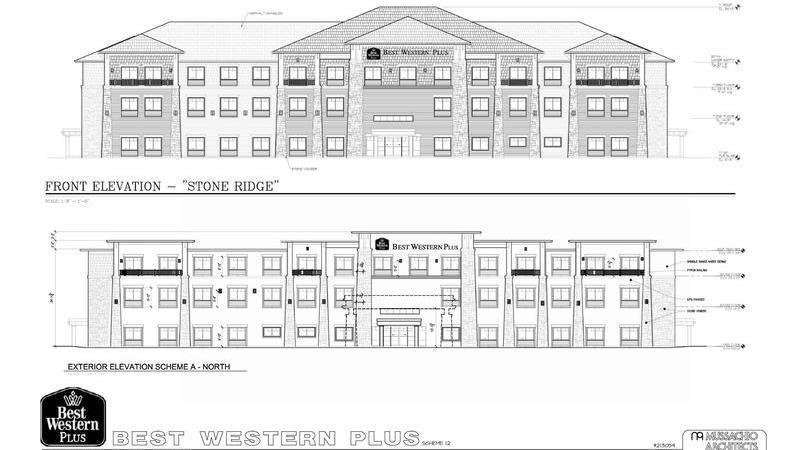 Flat Roof Proposed For The New Best Western Plus Hotel In Hammondsport Ny