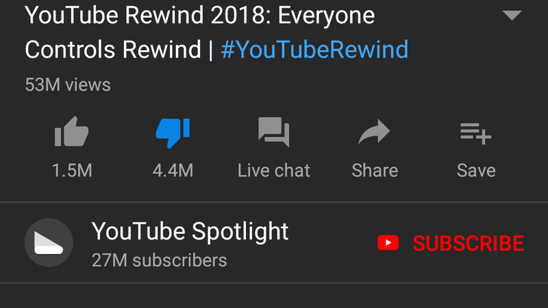 the most disliked video on youtube