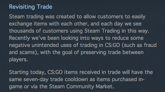 Petition · Revert to old CS:GO Trading Rules · Change org
