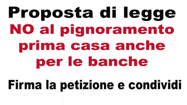 Petizione · Presidenza Del Consiglio: No Al Pignoramento Prima Casa Anche  Per Le Banche · Change.org