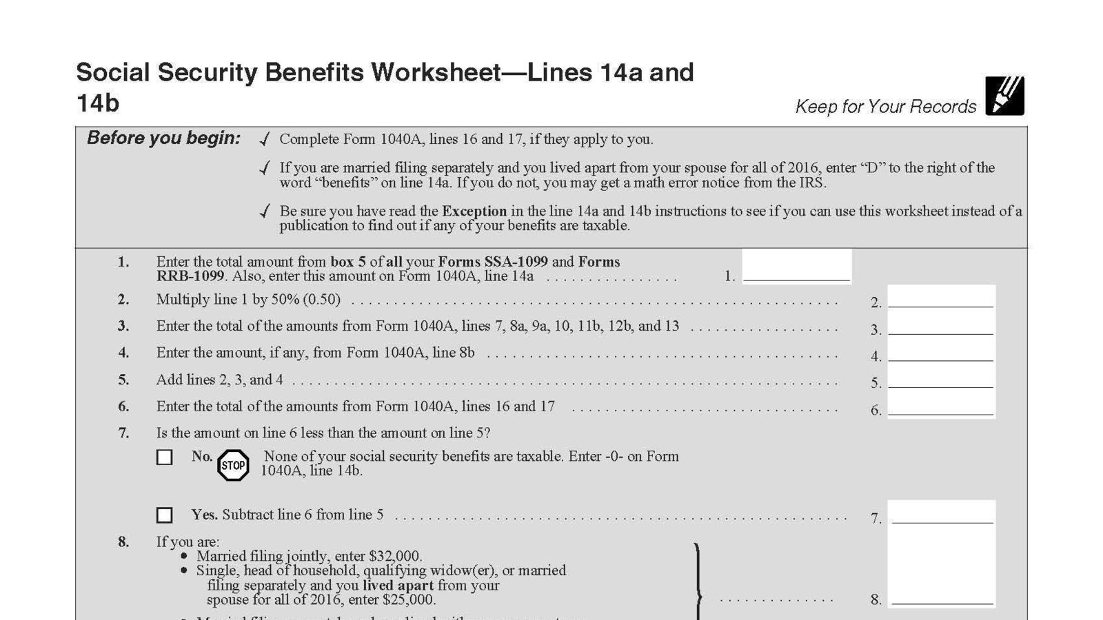 Uncategorized Social Security Benefits Worksheet 1040a petition lynne goldbach repeal of taxability security payments for senior citizens change org