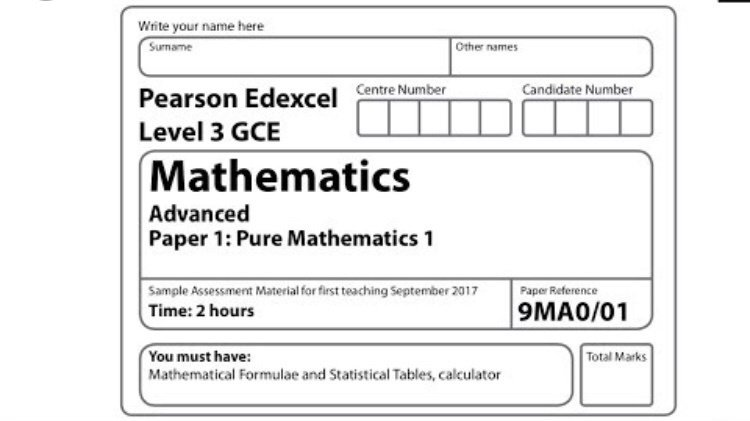 Petition · A-level Maths Edexcel 2019  We want a re