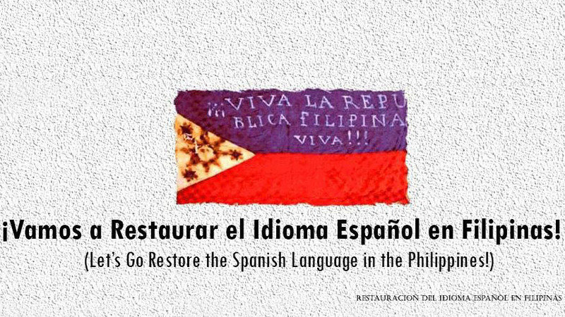 "Image result for ""idioma español en filipinas"""