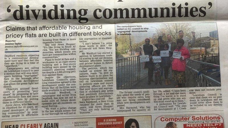 Petition We The Community Lewisham Borough Changeorg