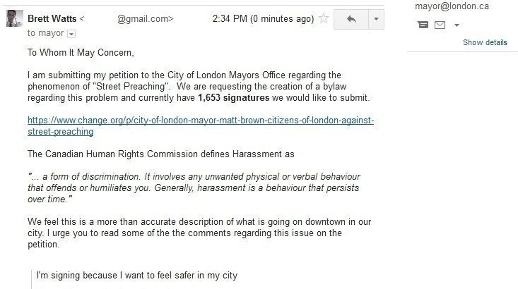 Petition · City Of London, Mayor Matt Brown: Citizens Of London