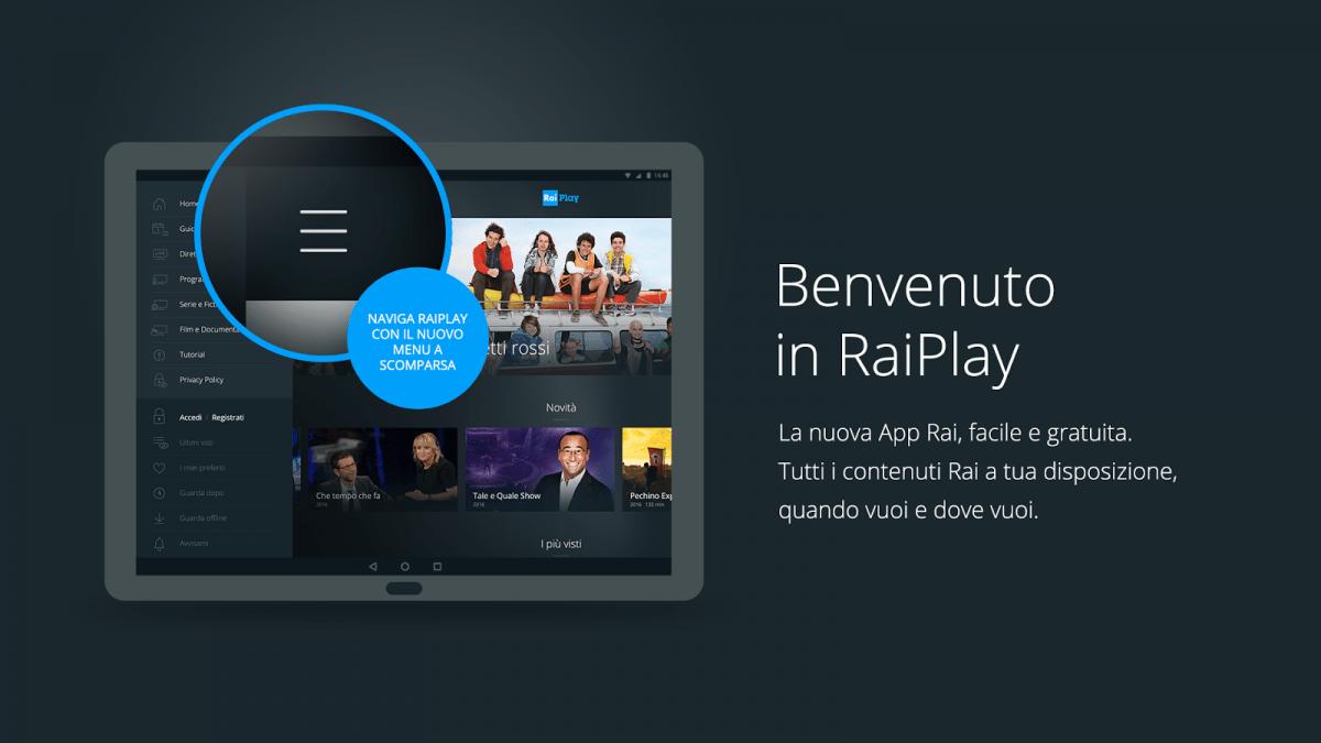 app raiplay su tv lg