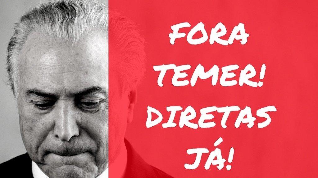 Presidência da República: DIRETAS JÁ - Pela renúncia de Temer e convocação de eleições diretas!