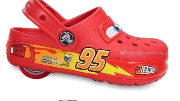Make Lightning McQueen Heely Crocs in