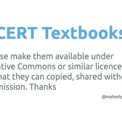 Petition · NCERT: Pls make NCERT textbooks available under