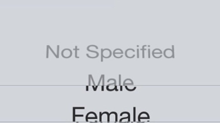 Instagram binary changing the gender options