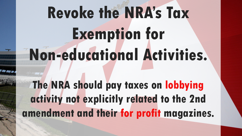 Petition Irs Revoke The Nras 501c4 Tax Exemption As A Social
