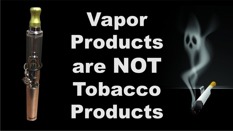 Image result for vapor products are not tobacco products