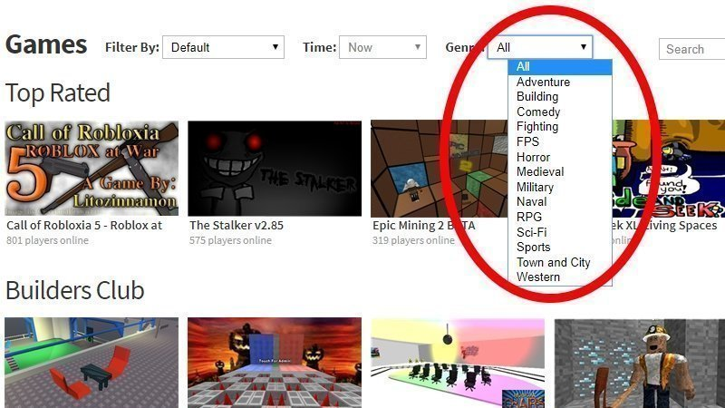 Roblox Genre Filter Extension - Petition Bring Back The Roblox Game Search By Genre