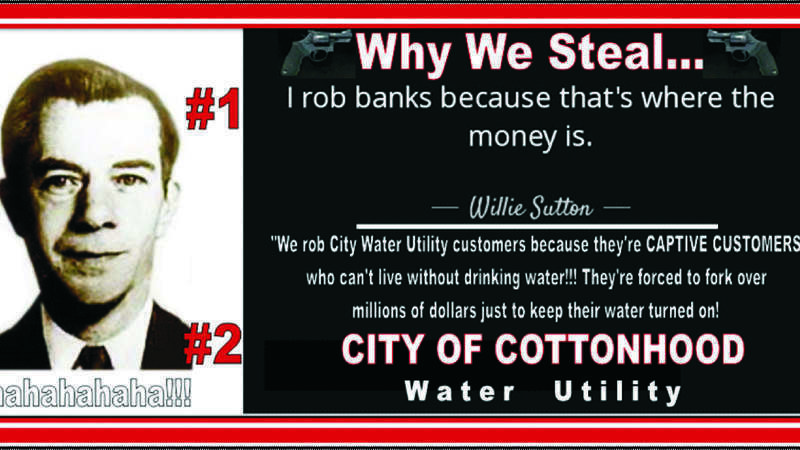 Petition update · HELP US CUT OFF THE WATER BILL MONEY THIEVES BY