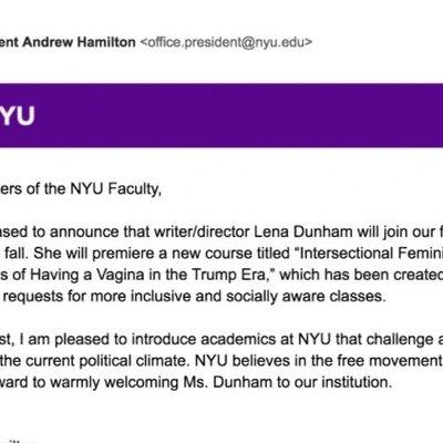 Petition · New York University: Cancel Lena Dunham's