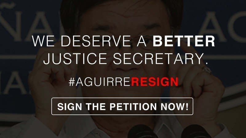 petition for the immediate resignation of doj secretary vitaliano aguirre ii