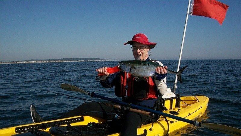 Kayak Fishing In Ocean From Island Beach State Park
