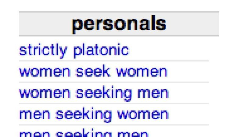Craigslist personals women seeking men
