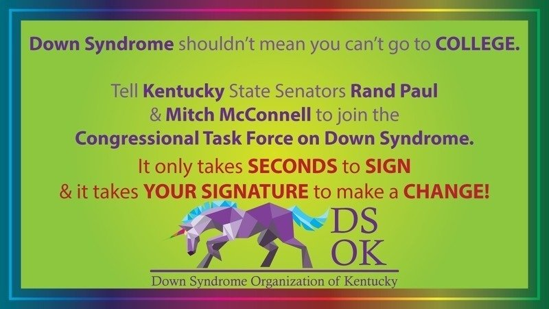 Image of: Get Kentucky Senators To Join The Congressional Task Force On Down Syndrome Changeorg Petition Rand Paul Get Kentucky Senators To Join The