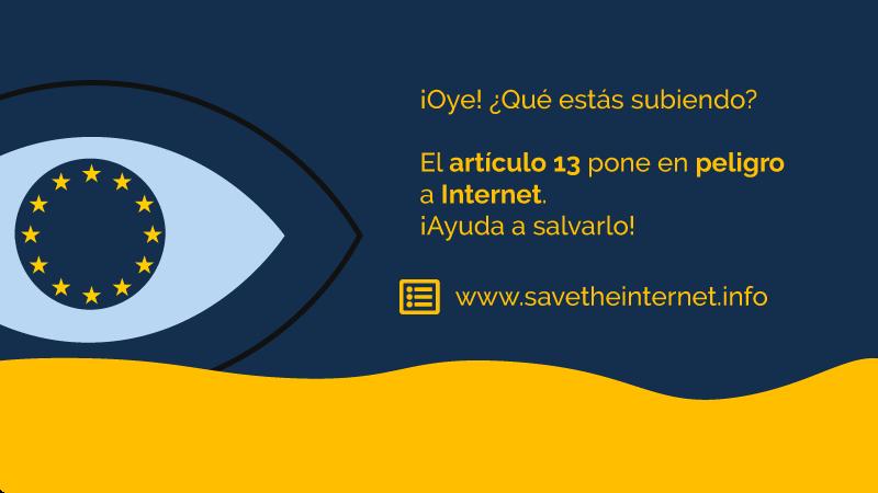 c2c81f4def3 Petición · Deten la Máquina de la Censura  ¡salva Internet! · Change.org