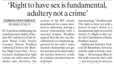 punishment for adultery in india