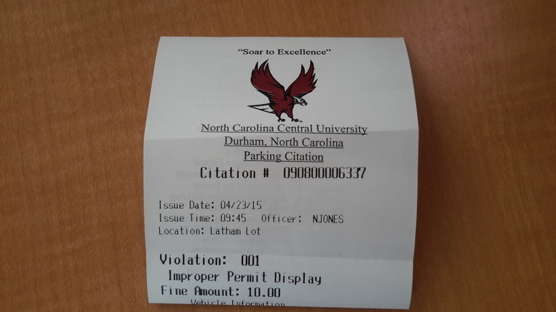 Petition North Carolina Central University Open Parking For