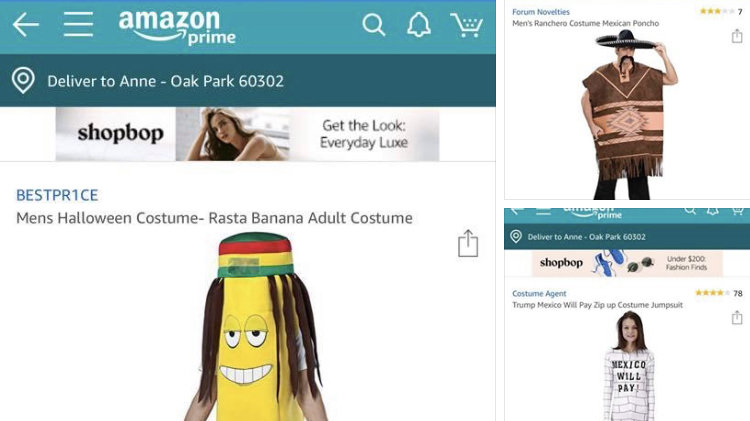 Amazon Prime Halloween Costumes.Petition Amazon Stop Selling Racially Culturally Insensitive