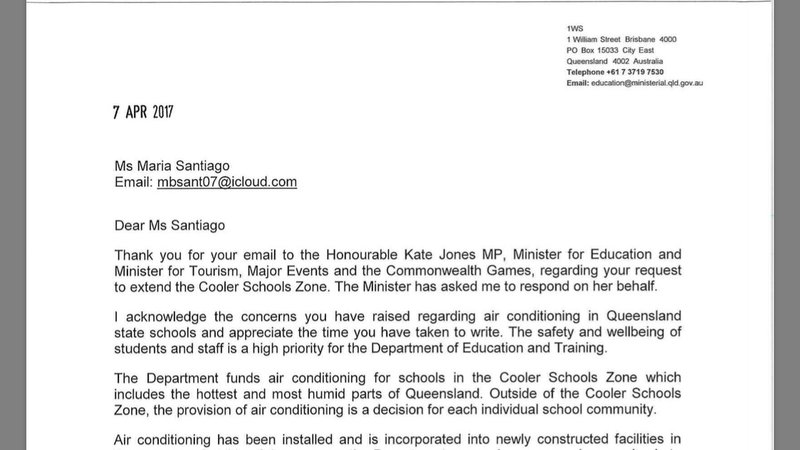 Petition update · Response letter from DETE on behalf of Hon Kate ...
