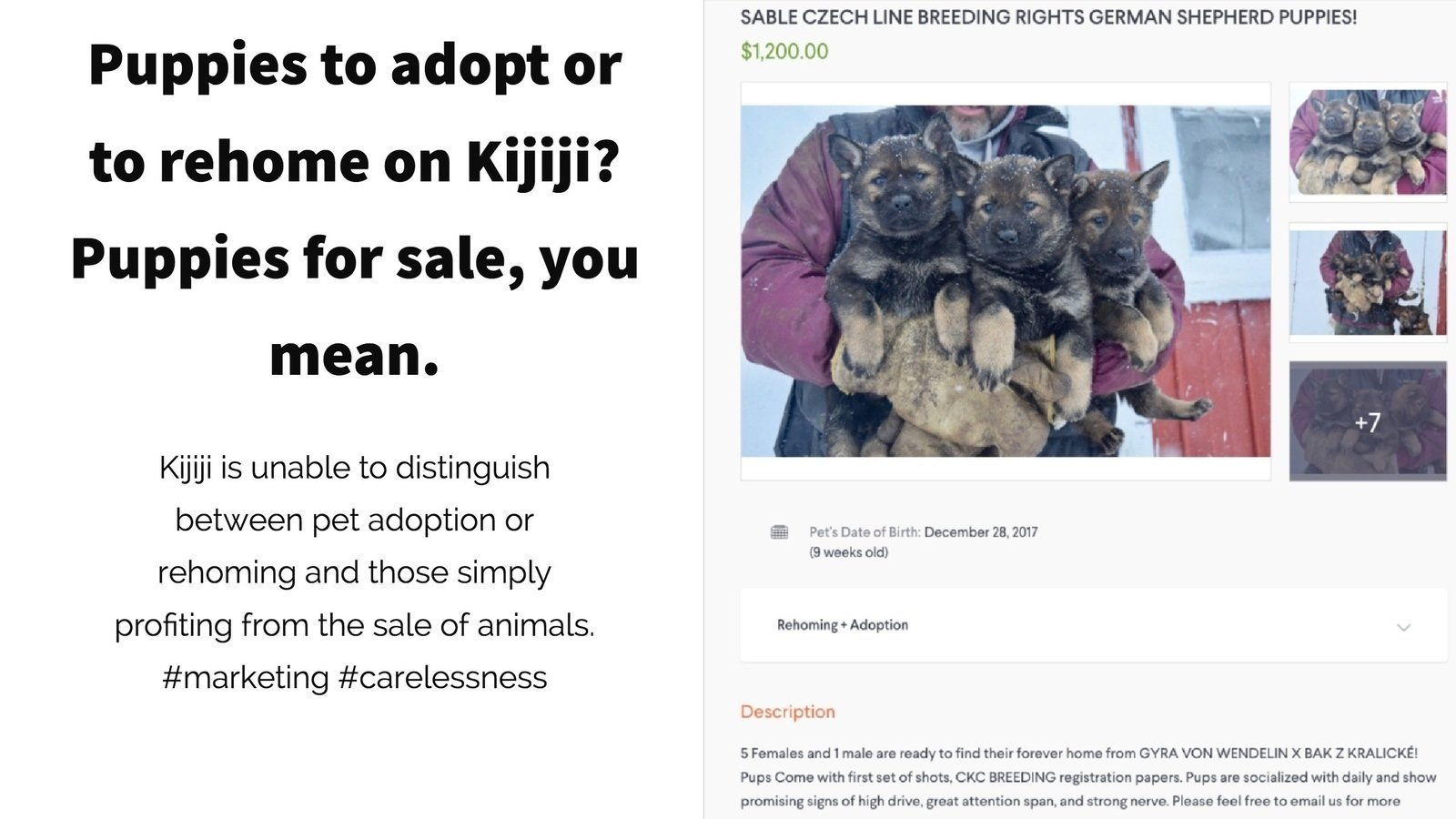 Petition update · Kijiji is an easy platform for scammers to sell
