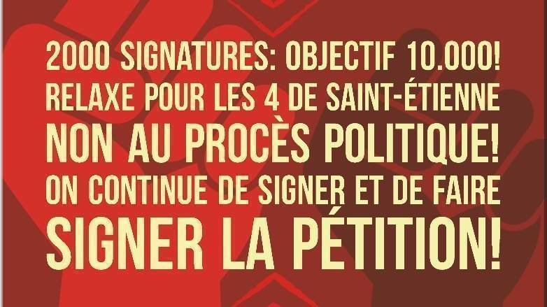 pétition cgt precaires etienne non au procès politique