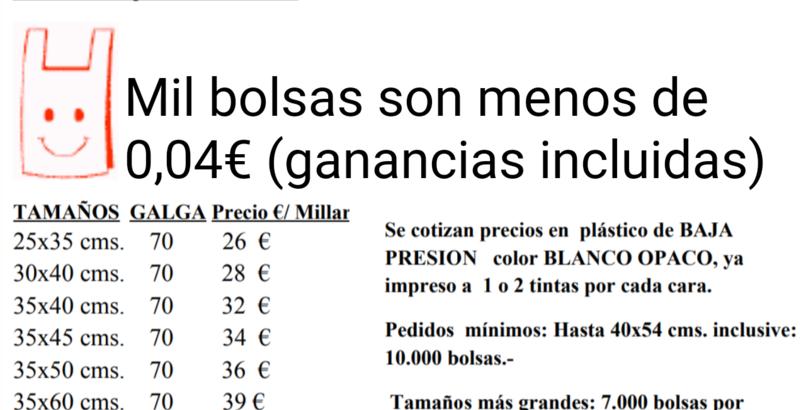Petición Deben Que Plástico CarrefoursaLas De Cobran Se · Bolsas 3jqL54AR