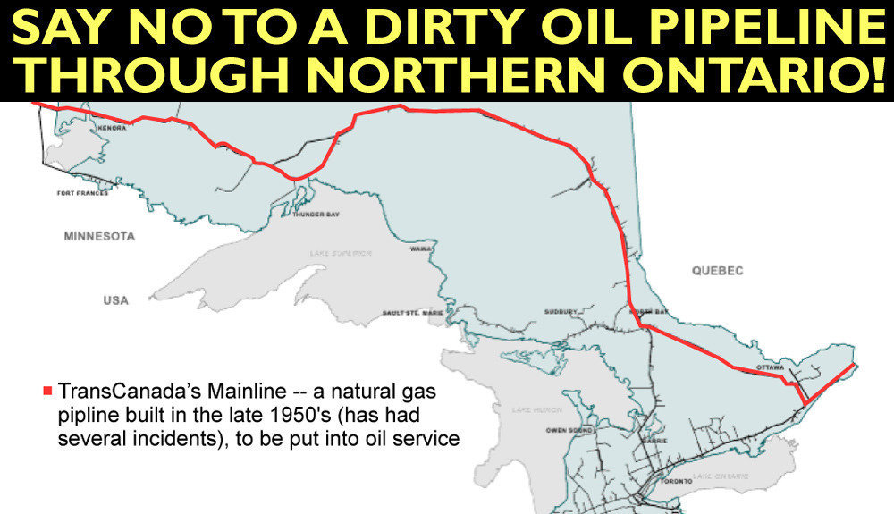 Petition No Tar Sands Pipeline Through Northern Ontario Changeorg - Us pipeline 1950 map