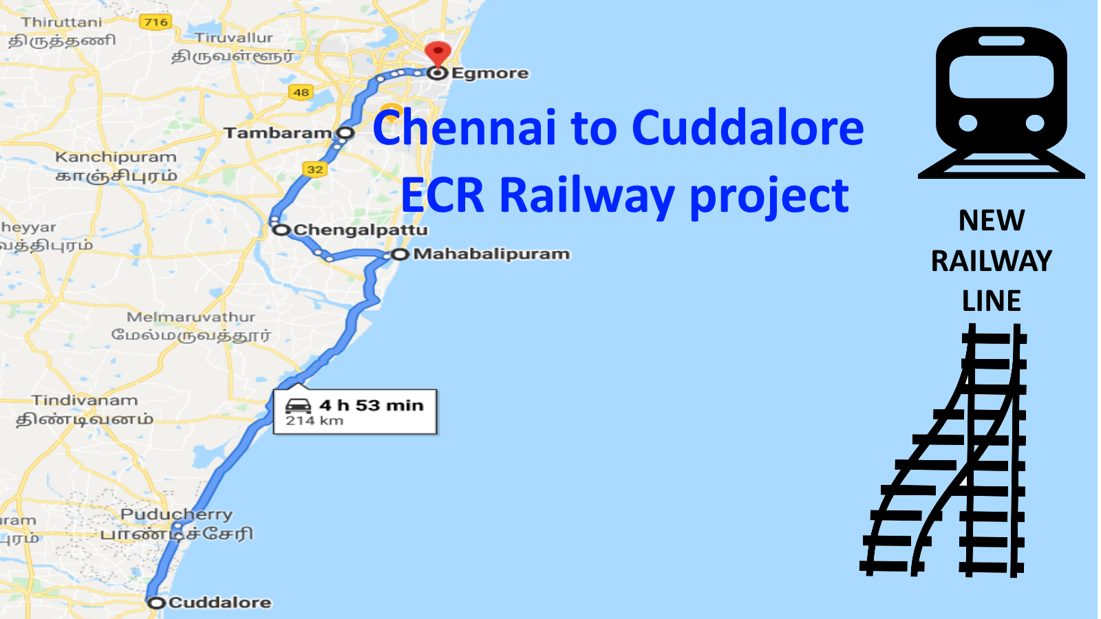 Petition · Start the long pending Chennai to Cuddalore ECR Railway ...