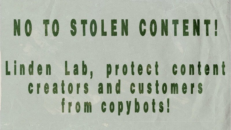 Petition · Linden Lab: Protect content creators and