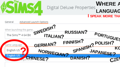 Petition · The Sims 4: Make All Languages Available For The